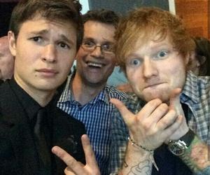 ed sheeran, john green, and ansel elgort image