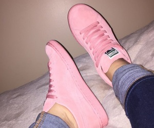 pink, shoes, and puma image