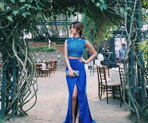 blue, dress, and feed image