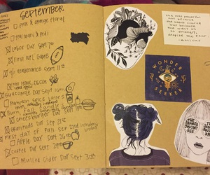 journal, lists, and September image