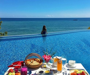 beautiful, blue, and breakfast image