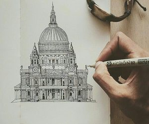 art, micron, and pens image