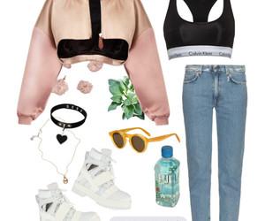 Calvin Klein, choker, and fashion image