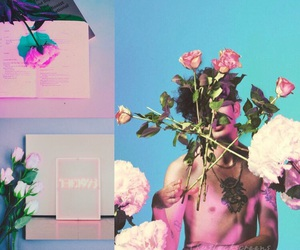 blue, roses, and tumblr image