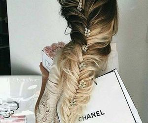 hair, chanel, and braid image