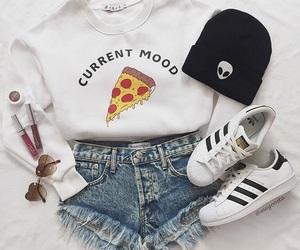 fashion, pizza, and adidas image