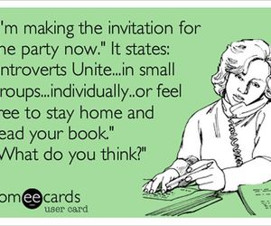 introvert and invitation image