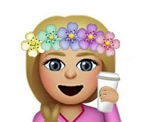 emoji, flowers, and emojis image