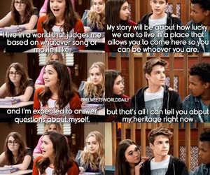 boy, girl meets world, and love image