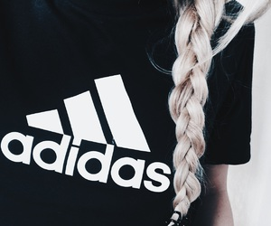 adidas, blonde, and braid image