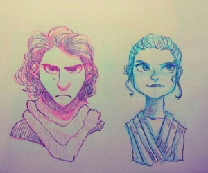 and, kylo ren, and rey image