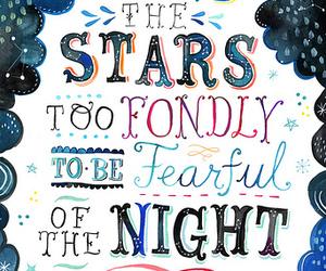 stars, quote, and night image