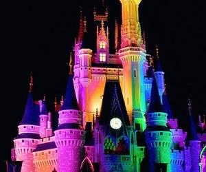disney, castle, and rainbow image