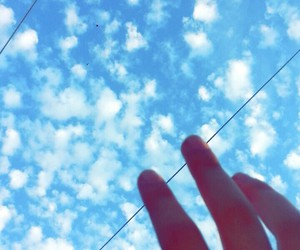 clouds sky blue white image