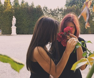 friend and rose image