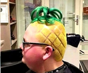 boy, hair, and pineapple image