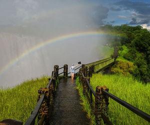 nature, rainbow, and scene image