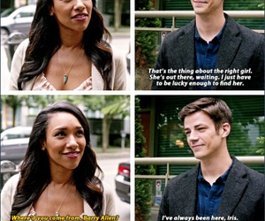 the flash, barry allen, and iris west image