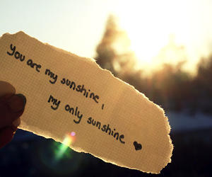 I Love You, Paper, and sunshine image