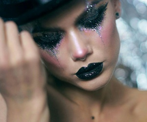 glitter, Halloween, and make up image