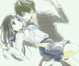 anime, hyouka, and anime couple image