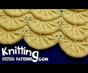 video, lace knitting, and lace knitting stitches image