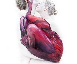 love, heart, and art image