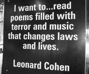 Law, leonard cohen, and poems image