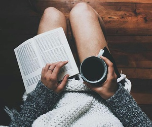book, coffee, and autumn image