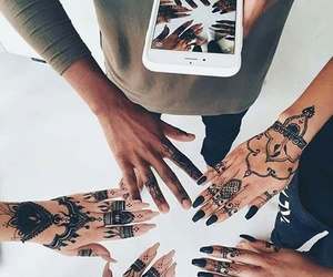 tattoo, henna, and friends image