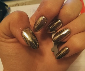 long nails, nails, and silver image