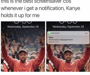 funny, kanye west, and funny kardashian image