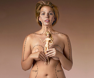 barbie, surgery, and woman image