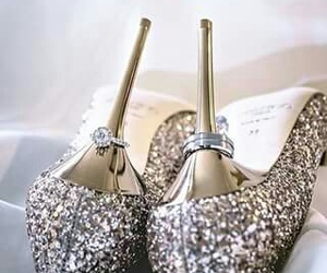 shoes, rings, and wedding image