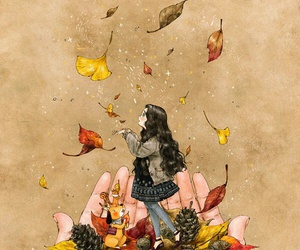autumn, colours, and girl image