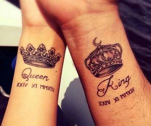 tattoo, couple, and king image