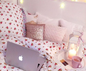bedroom, room, and apple image