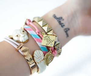 bracelet, tattoo, and keep calm image
