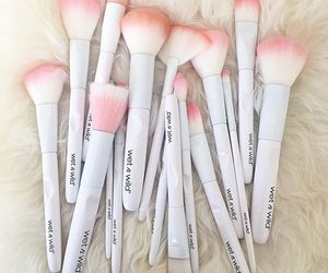 Brushes and cosmetics image