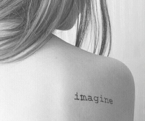 imagine, tattoo, and black and white image