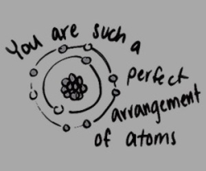 atom, quotes, and love image