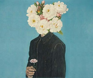 boy and flowers image