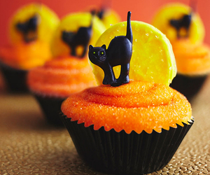 Halloween, cupcakes, and food image