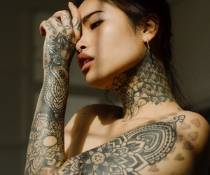tattoo, aesthetic, and girl image