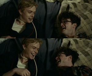 Allen Ginsberg, lucien carr, and daniel radcliffe image