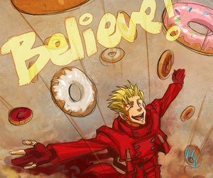 anime, donuts, and trigun image