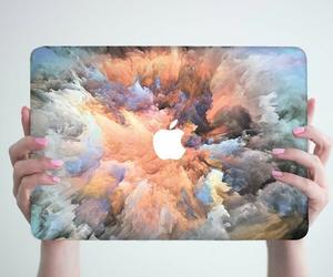 apple, macbook, and art image