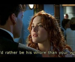 titanic, quote, and whore image