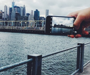 iphone, new york, and tourists image