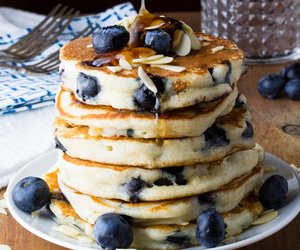 pancakes, blueberry, and food image